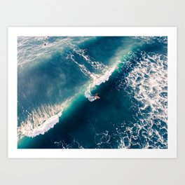 Surf from above Art Print