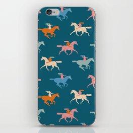 Naked derby dark blue iPhone Skin