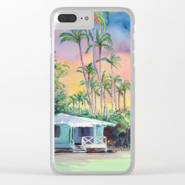 Dreams of Kauai Plantation Cottage Clear iPhone Case