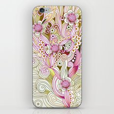 Flower fire | yellow, purple, green and ocre iPhone & iPod Skin