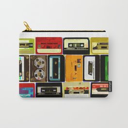 Retro Music Cassette Tapes - In Color Carry-All Pouch