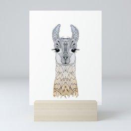 BABY LAMA (CRIA) Mini Art Print