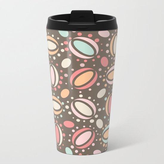 Retro pattern. Beans. Metal Travel Mug