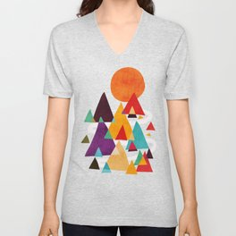 Let's visit the mountains Unisex V-Neck