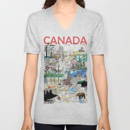 Canada (portrait version) Unisex V-Neck