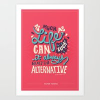paper towns Art Prints featuring Paper Towns: It Beats The Alternative by Risa Rodil