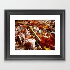 Flowers on a table  Framed Art Print