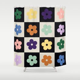 Bloom Check Multi Shower Curtain