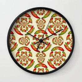 Portuguese flag pattern Wall Clock