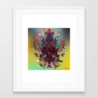 ganesha Framed Art Prints featuring Ganesha by Archan Nair