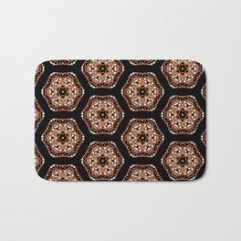 Beautiful Pink and Black Beadwork Inspired Fashion Print Bath Mat