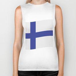 Finland flag Biker Tank