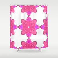 fifth harmony Shower Curtains featuring Harmony by Elisa Rosa