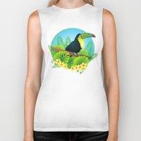 toucan Biker Tanks featuring toucan by Li-Bro
