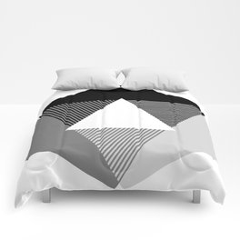 Grey Scale Print, design by Christy Nyboer Comforters
