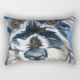 Elvis the Dog Portrait Rectangular Pillow