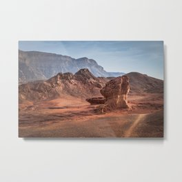 the valley view point in timna national park i Metal Print