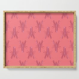 Pink Lobster Serving Tray