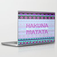 hakuna Laptop & iPad Skins featuring Hakuna Matata by Kristi Kaz