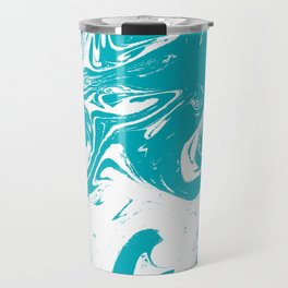 Gesshin - spille dink turquoise japanese watercolor painting topography map landscape water ocean Travel Mug