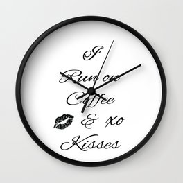 Coffee and Kisses Wall Clock