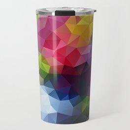Low Poly Art Colourful Travel Mug