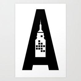 Artcotechsure: The A (white) Art Print