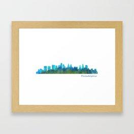 Philadelphia City Skyline Hq V1a Framed Art Print