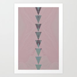 dusty arrows rose Art Print