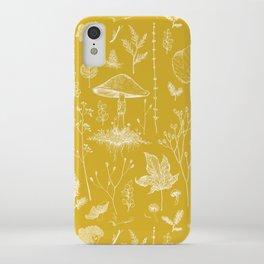 Woodland Walk / Mustard iPhone Case