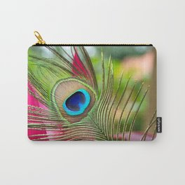 Peacock Feather in Nature Carry-All Pouch