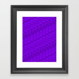 Video Game Controllers - Purple Framed Art Print