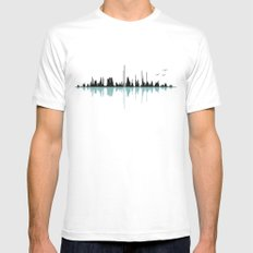 Music City MEDIUM White Mens Fitted Tee