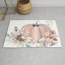 Autumn Pumpkin Rug