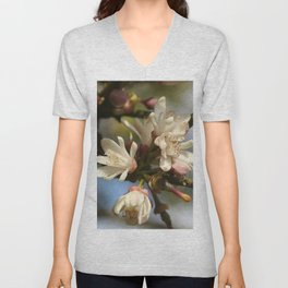 Orange Tree Flowers Unisex V-Neck