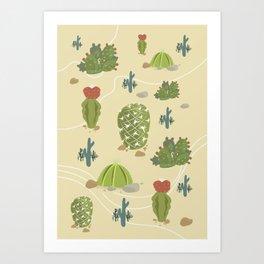 Cactus Land Art Print