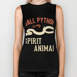 Ball Python Is My Spirit Animal | Snake Reptile Biker Tank