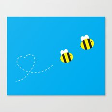 Bee in Love Canvas Print