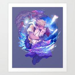 Tidus & Yuna Art Print