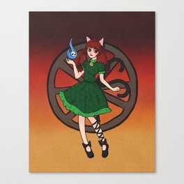 Little Hellcat Canvas Print