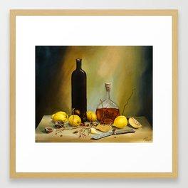 Still-life painting Framed Art Print