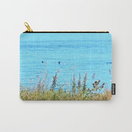 Whale chasing ducks close to shore Carry-All Pouch