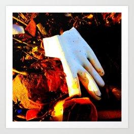 Rubber Glove Five Art Print
