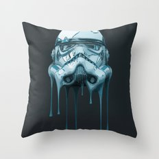Stormtrooper Melting Dark Throw Pillow