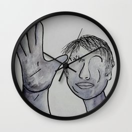 ASL Father in Denim Colors Wall Clock