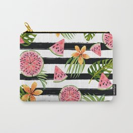 Watermelon black stripes Carry-All Pouch