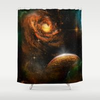 universe Shower Curtains featuring Universe by nicky2342
