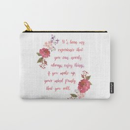 Anne of Green Gables Make Up Your Mind Carry-All Pouch