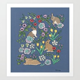 with early spring flowers Art Print