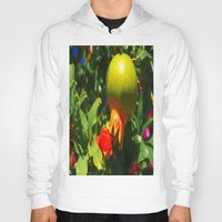 pomegranate Hoodies featuring Pomegranate by Ricarda Balistreri